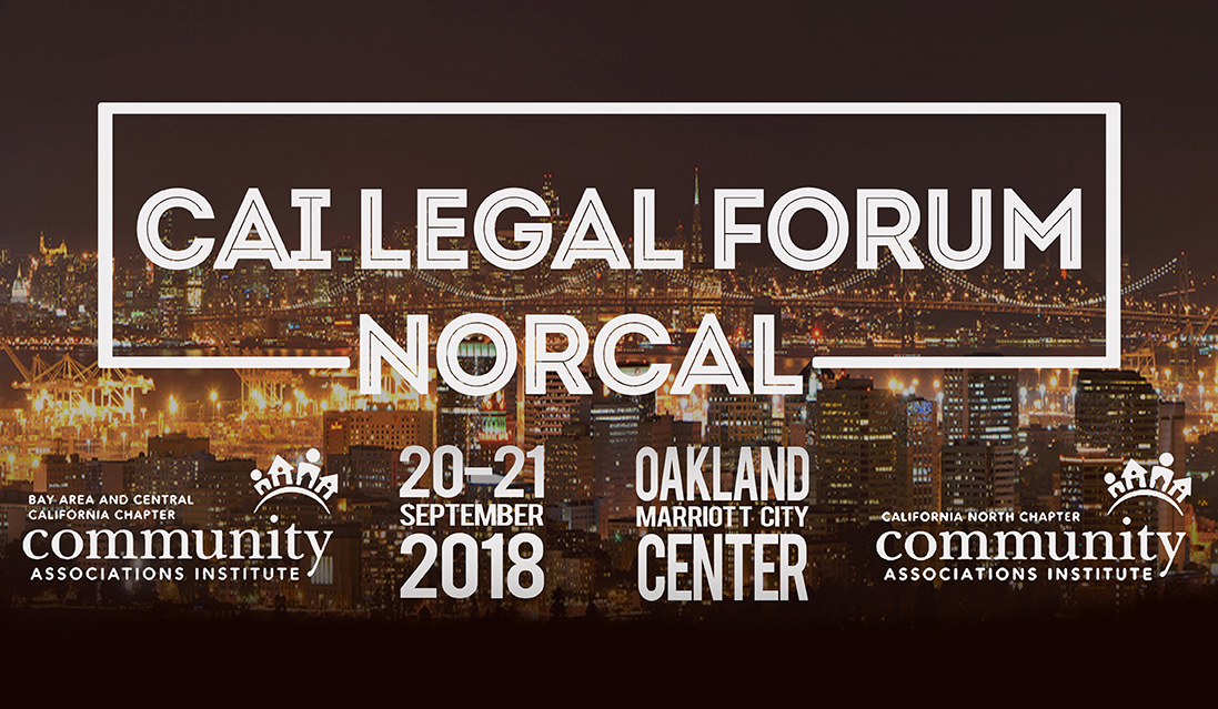 Adams Stirling Founder and Managing Partner Adrian Adams speaks at inaugural CAI Legal Forum NorCal