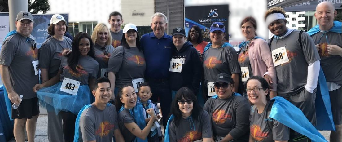 Adams Stirling Turns out in Force to Support 2018 CASA Justice Jog