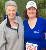 Laurie S. Poole, Esq. and Candace Schwartz have fun raising money for Autism research in San Diego on 4-6-19