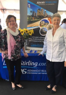 Senior Attorney Nancy Sidoruk and Client Relations Director, San Diego Candace Schwartz attend FirstService Residential's Vendor Fair on 4-26-19.