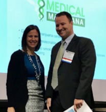 Adams Stirling Partner Nathan McGuire with Doreen Tejada, CMCA at Marijuana in CIDs presentation