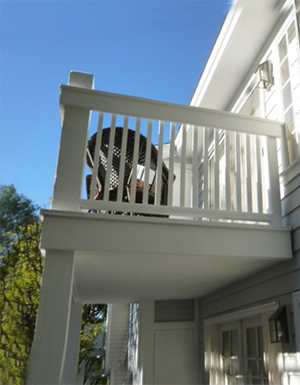 Balconies supported by posts that require invasive testing under the Davis-Stirling Act.
